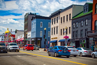 Street view in Georgetown, Washington DC area.