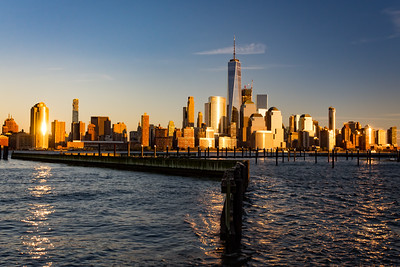 Freedom Tower  and New York City as viewed from Jersey City, New Jersey.