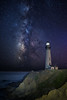 Pigeon Point Lighthouse with Galaxy