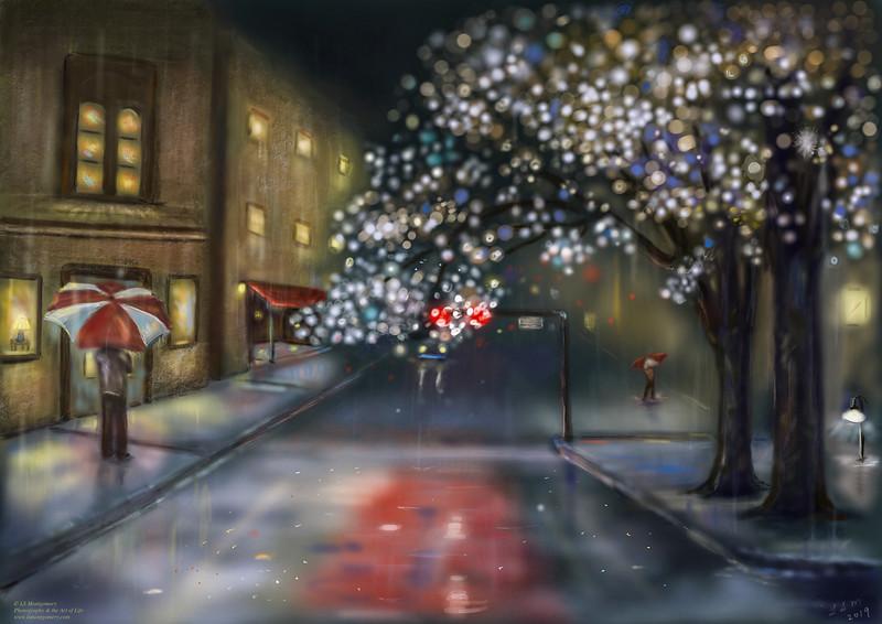 City Night Rain