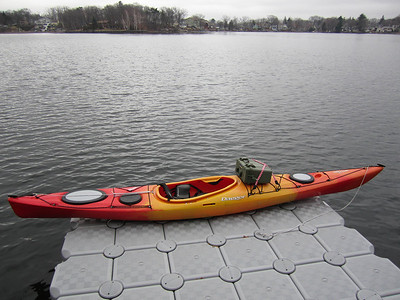 Kayak with Pelican case mounted.