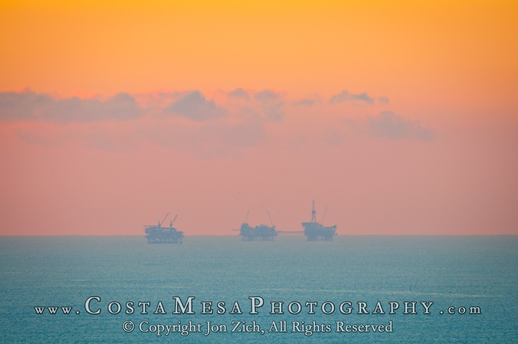 Oil Drilling Rigs South of San Pedro