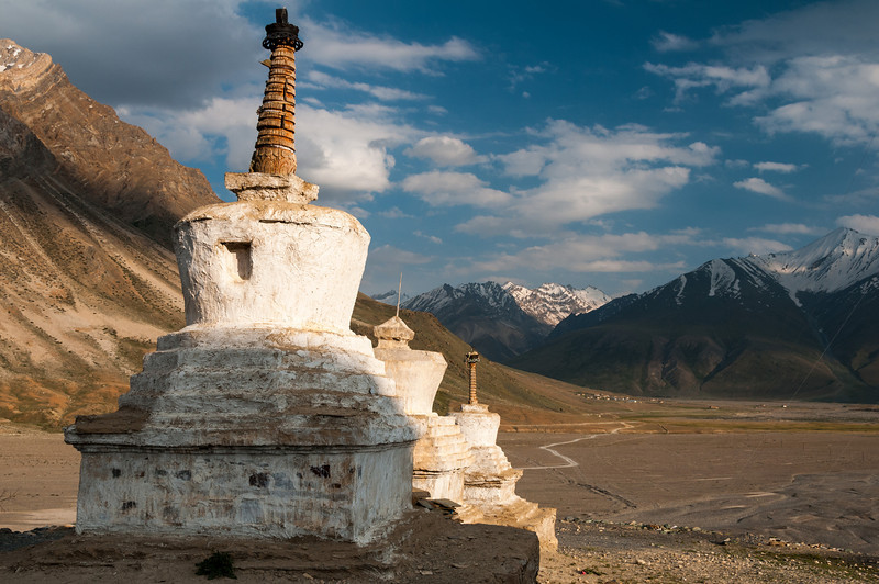 Looking down the Zanskar Valley from Rangdom Gompa