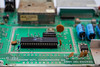 1984 C64<br /> Commodore 64 mainboard featuring the main identifying etching but also shows the VIC-II chip (6567).