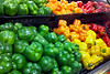 Colorful Peppers<br /> I was mesmerized by the colors of these peppers and just had to try and capture them. Taken with my DroidX while grocery shopping.