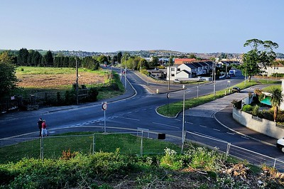 Junction of Trasnagh Drive with Scrabo Road, Newtownards.  Photo date 2008.