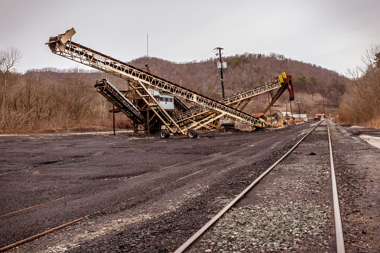 Old coal processing plant and tracks