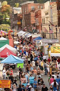 A crowd meanders down Hazard's Main street during the 2007 Black Gold Festival