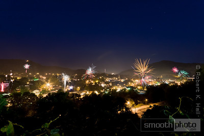 A composite shot overlooking Hazard during their Independence Day celebration 2010.