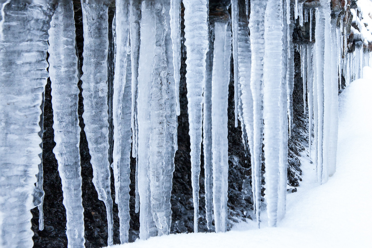 Large icicles
