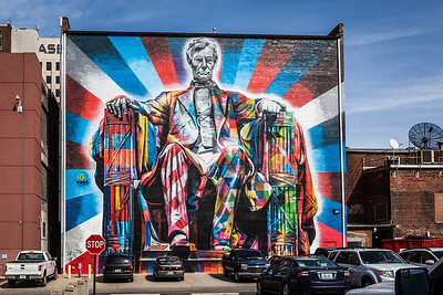 Mural of Abraham Lincoln by Brazilian artist Eduardo Kobra | Lexington KY