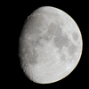 I've seen better, but I think it's pretty good for a 300mm lens. I used <a href='http://auricle.dyndns.org/ALE/'>ALE</A> to make a <a href='http://en.wikipedia.org/wiki/Super_resolution'>super resolution</a> composite from 20 exposures. Probably, I should have upped the ISO and shutter speed, but it's not like the moon is going anywhere; I can try it again later.