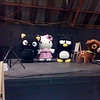 Small Gift LA. In celebration of their 50th anniversary, Sanrio opened up a week-long Hello Kitty themed mini-carnival in Santa Monica. We went on a weekday to beat the crowds, so we missed out on the weekend workshops and parties. Sadly we also forgot to bring a real camera so all we had was Mike's camera phone.