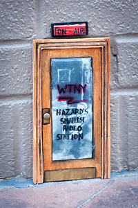 Mini-door that appeared on the radio building in downtown Hazard