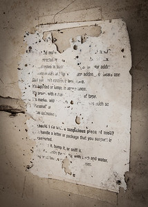 Old note on wall. Can you read it?