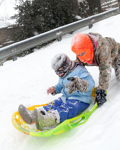 Sleigh riding with friends