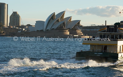 "Sydney Opera House and ""May Gibbs"" ferry taken from the Manly Ferry"
