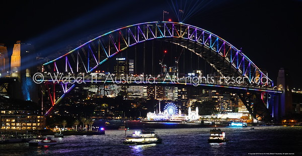 Sydney Vivid 2018: Harbour Bridge from Circular Quay