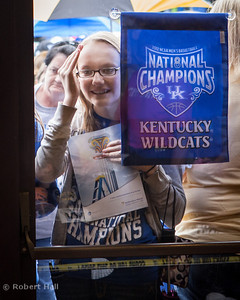 A UK basketball fan waits anxiously to get an autograph from one of the University of Kentucky Wildcats visiting Hazard