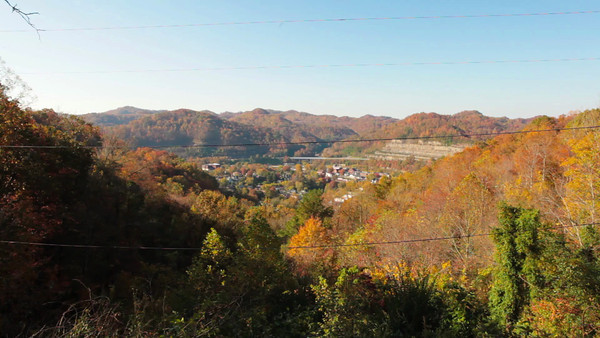 View of Hazard, Kentucky from Skyline Drive. Fall 2012.