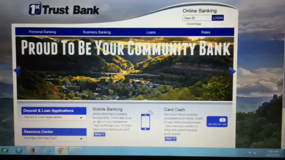 1st Trust Bank website