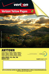 One of my photos was selected for 2009 cover of the Verizon Yellow Pages - Eastern Kentucky edition
