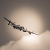 Lancaster Bomber flyby at Woodhall Spa
