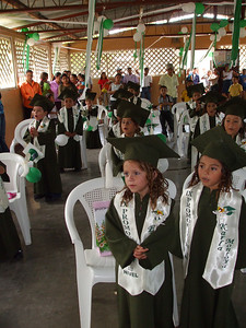 Class at end of ceremony