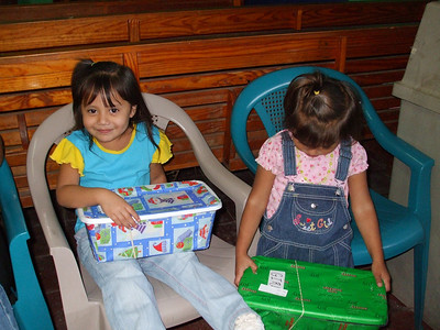 Kids enjoying their boxes