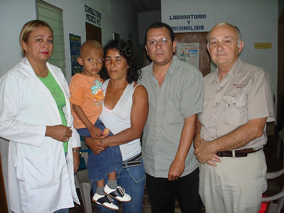 The mission staff with Rosalina and Gerson.