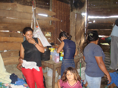 Family taking care of Gerson.  Rosalina was at the market when we arrived buying food for Gerson.