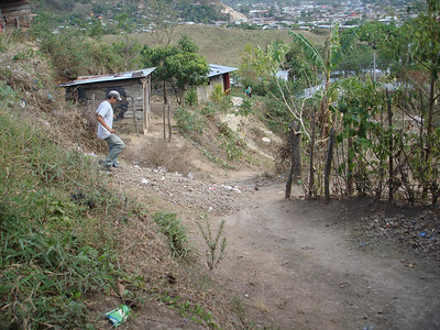 Heading down from Gerson's home