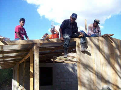 Working on End Wall & Roof