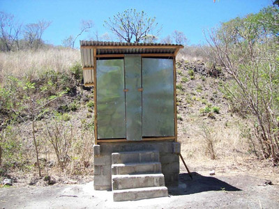 Completed Latrine