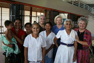 New Sisters!  Four new sisters from a congregation on the Rio Coco baptized the day before in Jinotega while waiting to come to the National Ladies Day
