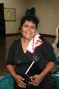 Another committee member Lilliana Perez between presentations