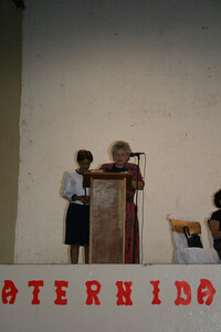 Donna Baker opening prayer at National Ladies Day