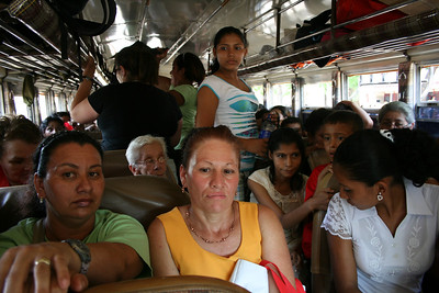On the way home after the National Ladies Day in Managua