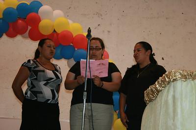 Ladies chorus from Jinotega singing hymns at National Ladies Day