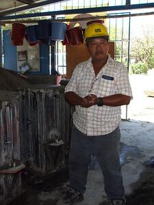 Jose Fidel Pavon in workshop