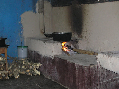 Stove in kitchen