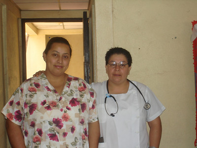 Director of MINSA Health Center in La Rica with Center nurse