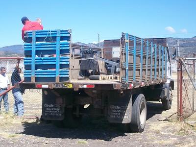 Arrival at the prison carpenter shop at the prison outside Matagalpa