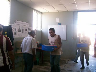 Unloading bible class materials