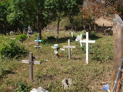 Local church cemetery we passed as we walked