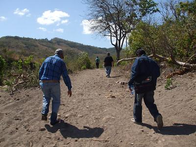 Ok, we're walking.  Alberto assures us it is less than one kilometer