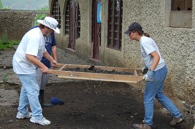 Preparing ground for garden at Casa Materna