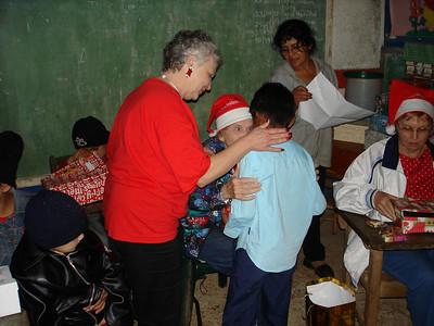 St. Inez child receiving Smile box