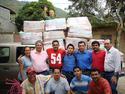 Group of preachers from the Managua area preparing to return to Managua with their Smile boxes.  Twelve churches are represented in this picture.