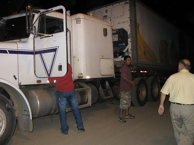 Truck arriving in Jinotega with Smile boxes